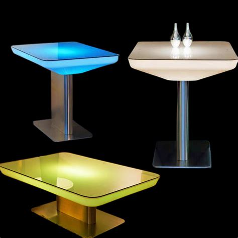Led Bistro Table Plastic Tables And Chairs For Outdoor Led Bar Led Luminous Luminous Coffee Table Dining Table