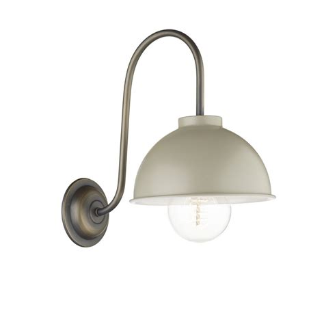 Metal Wall Lights Vintage Single Wall Light In Antique Painted