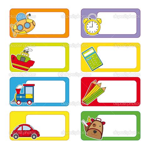 School Labels Labels Backgrounds Award Certificates School Labels School V 224 Name Labels Name Tag Sticker Template