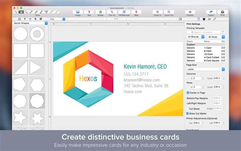 Business Card Design App For Mac