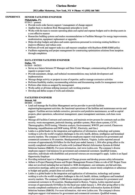 generous facility engineer resume contemporary resume
