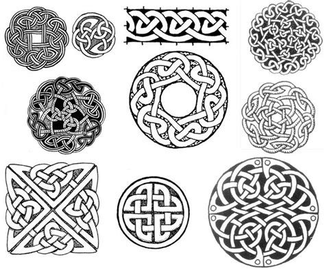 Knot Designs - celtic circle and square knot designs tattoos