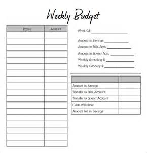 weekly budget template sle weekly budget 7 documents in pdf word