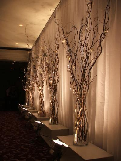 lighted twigs home decorating willow branch decor image via pinterest rental includes