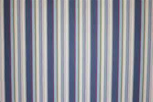 Navy Stripe Curtain Navy Blue And Light Blue Pompom Fringe The Stripes