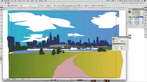 tutorial illustrator landscape landscape illustration using adobe illustrator youtube