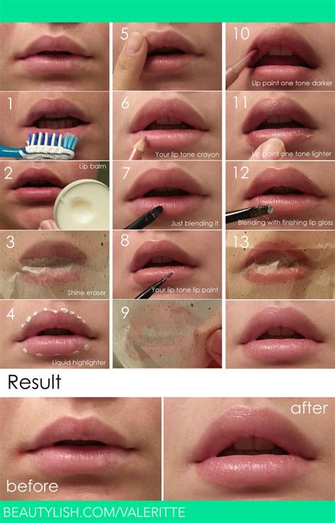 tattoo to make lips look bigger natural look lip makeup tutorial valerie d s valeritte