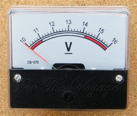 Voltmeter Analog 10 16v dc panel voltmeter for 12v systems volt meter analogue analog new ebay