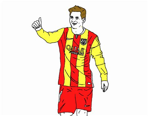 colored page messi bar 231 a painted by user not registered