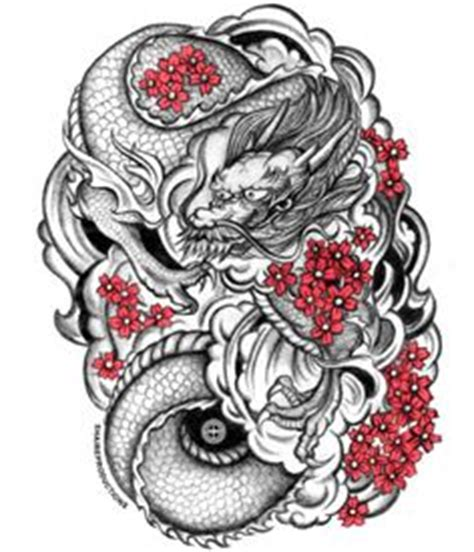dragon tattoo with cherry blossom 1000 images about tattoo designs on pinterest dragon