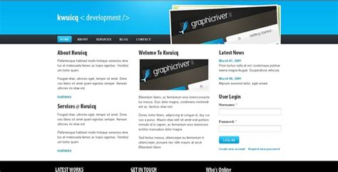 drupal theme user menu kwuicq drupal 6 corporate blue theme by settysantu