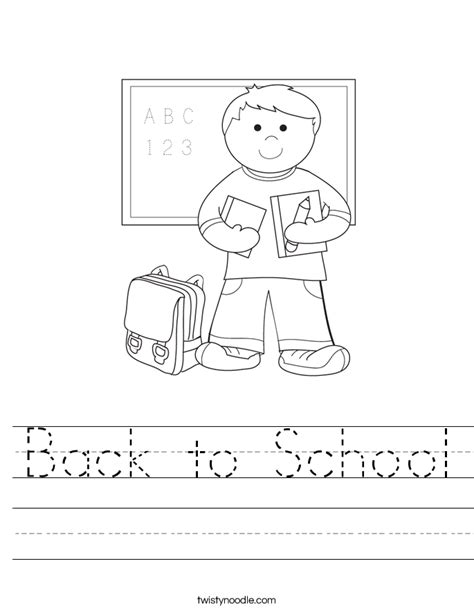 preschool coloring pages first day of school back to school worksheet twisty noodle