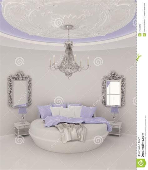Ceiling Decor In Modern Bedroom Stock Illustration   Image: 17650949
