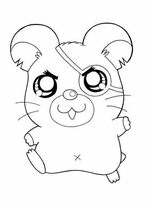 Free Coloring Pages Of A Cute Hamster Hamster Coloring Pages Printable