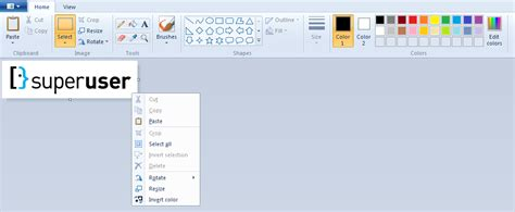 windows 7 where has quot invert colors quot in the new ms paint user