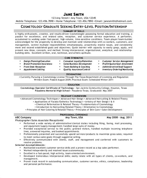 cosmetology resume template 5 free word pdf documents free premium templates