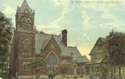 Awesome Churches In Brookville Ohio #1: OH Bellevue 1910s St Johns Lutheran Church.jpg