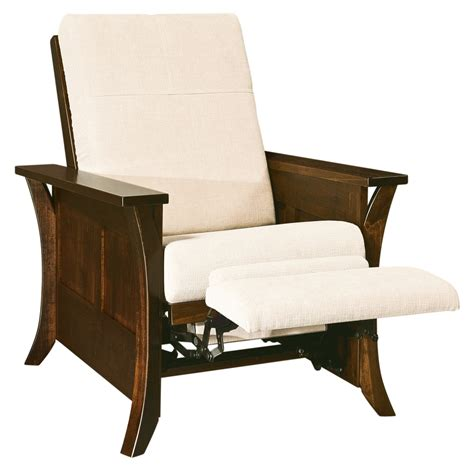 Accent Recliner Chair Amish Caledonia Recliner Accent Chair Surrey Rustic