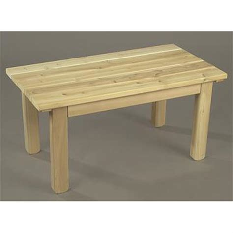Unfinished Patio Furniture Rustic Cedar Unfinished Garden Table 200449 Patio Furniture At Sportsman S Guide