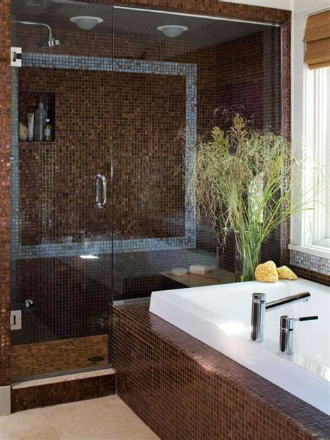 brown tile bathroom 40 brown mosaic bathroom tiles ideas and pictures