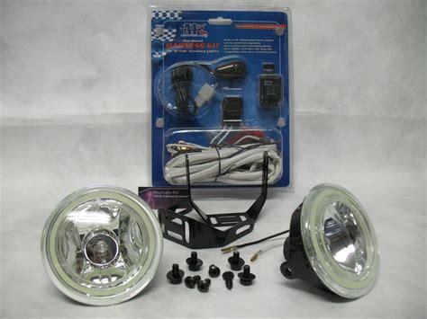 universal round fog lights 4 quot inch round angel eye fog lights driving ls kit universal