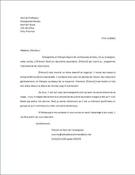 Demande Lettre De Recommandation Modele modele lettre de recommandation medecin document