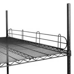 wire shelving black regency 48 quot black epoxy wire shelf ledge for wire shelving