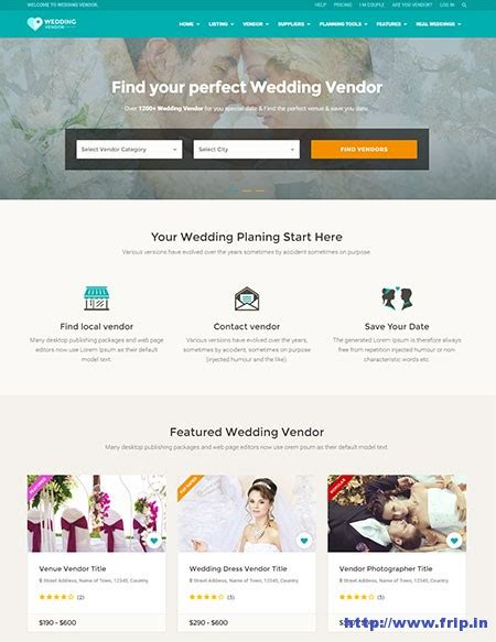 25 Best Html5 Directory Website Templates 2017 Frip In Vendor Website Template