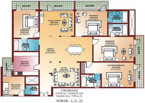 four bedroom floor plan welcome to rwa of la tropicana