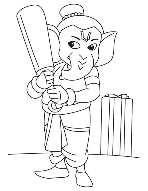 lord ganesha coloring pages sketch coloring page