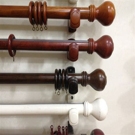 curtain rods wooden wood curtain rods primedfw com