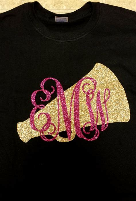 pattern vinyl for shirts megaphone glitter shirt with initials by tay2002designs on