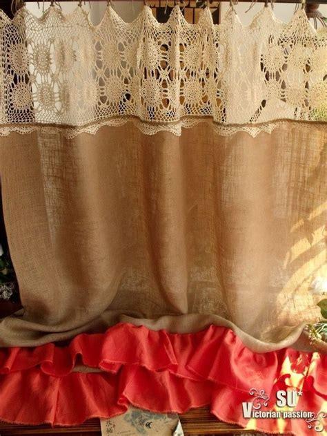 rustic orange curtains 25 best ideas about burlap shower curtains on pinterest