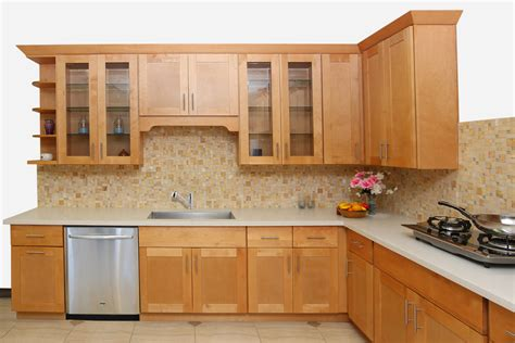 honey maple kitchen cabinets honey shaker maple cabinets ready to assemble kitchen