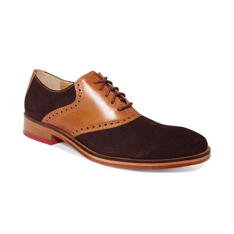 cole haan shoes cole haan colton saddle welt shoes in brown for