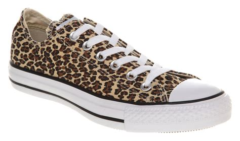 office snow leopard converse converse all star ox low leopard trainers shoes ebay