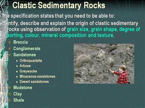 clastic sedimentary rocks authorstream