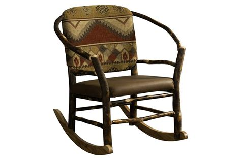 rustic rocking chair kit amish rustic hickory twig hoop rocking chair