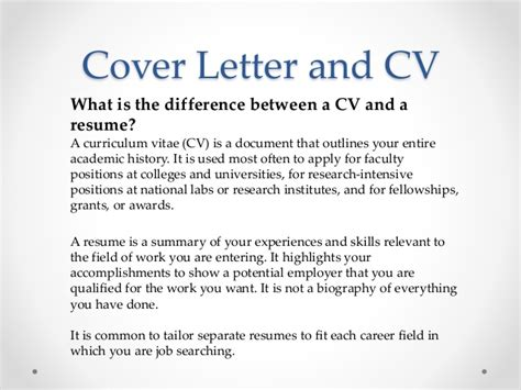 Difference Between Cover Letter And Resume Letter Vari 101 For Postdoctoral Fellows