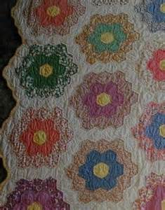 Flowers In The Attics - grandmothers flower garden quilt honeycomb amp hexagon quilts