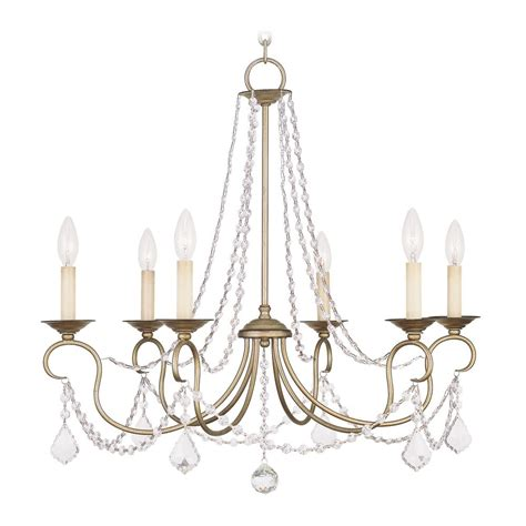Silver Leaf Chandelier Livex Lighting Pennington Antique Silver Leaf Chandelier 6516 73 Destination Lighting