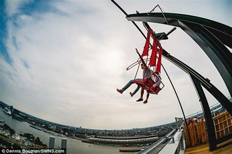 swing in the thrill seeker rides a swing on the edge of a 1 000 foot