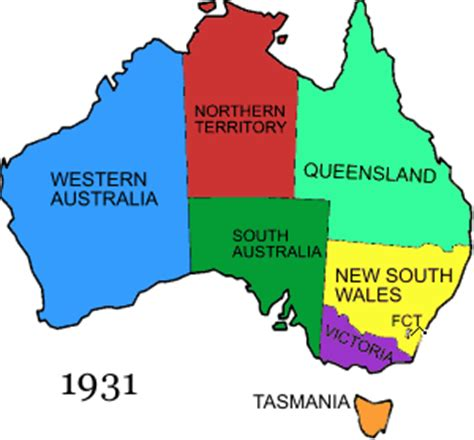 map of australia with states territorial evolution of australia