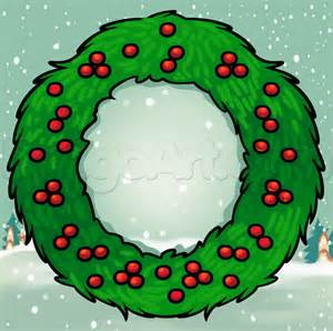 how to draw a christmas wreath step by step christmas