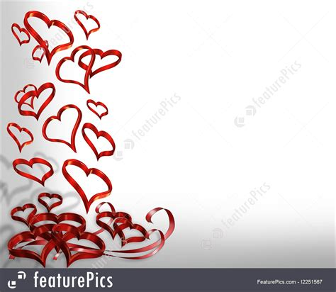 Valentines Cards Templates 3d by Templates Hearts Falling 3d Border Stock