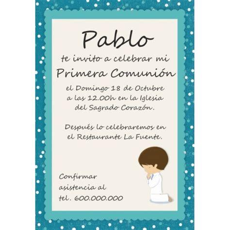 invitaciones primera comuni n tarjetas e invitaciones invitaciones comuni 243 n ni 241 o partty juan pinterest