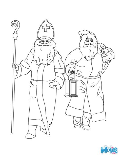 coloring pages for christmas in germany santa claus saint nicholas coloring pages hellokids com