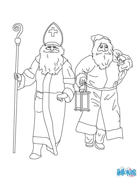 german santa coloring page santa claus saint nicholas coloring pages hellokids com