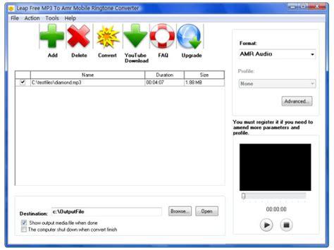 download mp3 ringtone converter free leap free mp3 to amr mobile ringtone converter free