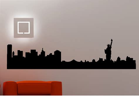 skyline wall stickers new york city skyline wall stickers wall decals vinyl
